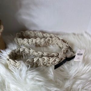 Anthropologie off-white weaved belt. NWT